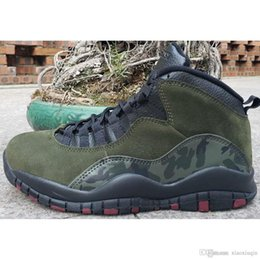 7b31c7ae9d1001 Cheap mens retro 10s basketball shoes aj10 Olive Green Racer Blue Tinker  air flight j10 youth kids jumpman x 10 sneakers tennis with box