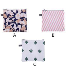 Girls Bedding Australia - Sanitary Napkin Bag Portable Zipper Women Girl Sanitary Pad Organizer Purse Holder Storage Bags Waterproof Cosmetic Pouch F1024