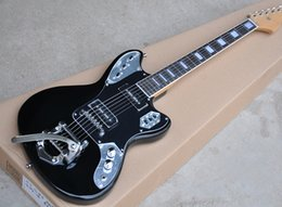 $enCountryForm.capitalKeyWord Canada - Factory Black Electric Guitar with Tremolo System,Block Frets Inlay,P90 Pickups,Black Pickguard,High QualityChrome Hardware