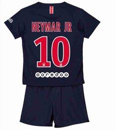 KIDS  10 NEYMAR JR Soccer Jersey Home Color navy blue fan version 2019  7  MBAPPE Socce shirt A1 2aac83172