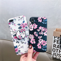 Iphone sIlIcone art cases online shopping - Retro Art Colorful Flowers Leaf Painting Phone Case For Iphone XR X XS Max Plus Soft Silicone Grip Holder Cover For iphone s
