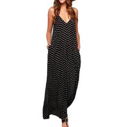 3ce26ab09 Estilo boêmio summer dress mulheres senhoras hippie longo maxi polka dots  solto praia vestido de verão plus size vestidos vestidos de festa