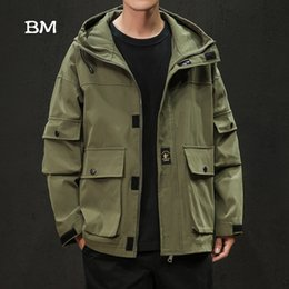 $enCountryForm.capitalKeyWord Australia - streetwear jacket men korean style army coat fashions oversized hoodie 5XL black windbreaker clothes tactical jacket