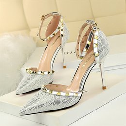 $enCountryForm.capitalKeyWord Australia - mary jane shoes wedding shoes bride pointed toe high heels pumps women shoes summer high heels zapatos de mujer chaussures femme tacones