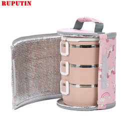 Keep Box NZ - RUPUTIN Aluminum Double-sided Foil Lunch Bag Foldable Waterproof Fresh-keeping Ice Pack Drum Picnic Insulated Bag Lunch Box