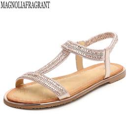 Crystal Diamond Fabrics Australia - 2018 new European Fashion Sandals Flower Beading Crystal Rhinestone Luxury Diamond High Quality Ladies Sandals Large z36