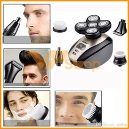 $enCountryForm.capitalKeyWord Australia - Kemei KM-1000 Electric Shaver 5 in 1 Head Nose Face Beard Electric Shaving Trimmers 5 Blade Rechargeable Razors Washable Men Hair Clipper
