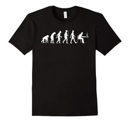 Built Computers Australia - Evolution of Man Computer: Geek, Programmer T-shirt Summer T Shirt Brand Fitness Body Building 2017 New Short Sleeve Men