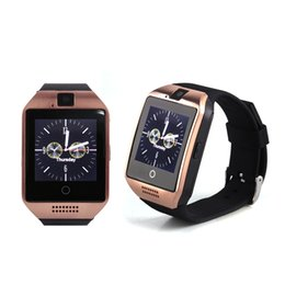 Bluetooth Smart Watch Sim Australia - Q18 smart watch watches bluetooth smartwatch Wristwatch with Camera TF SIM Card Slot   Pedometer   Anti-lost   for apple android phones