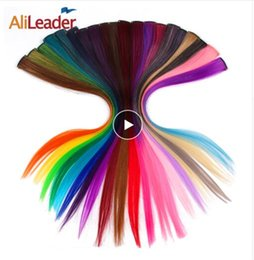 Synthetic Extensions Reliable Alileader Product 20 Colors One Piece One Clip Hair Extensions Blonde Pink Red Synthetic Ombre Hair Pieces For Women With Clip