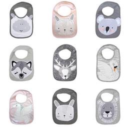 ScarfS bearS online shopping - INS Baby Bibs Saliva towel Animals swan Bear fox rabbit Cartoon shape Newborn Burp Cloths Soft cotton Print Bandana Feeding Scarf C6302