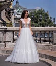 Natural Beauty Pageants Dresses NZ - Beauty White Tulle Scoop Applique Beads A-Line Wedding Dresses Bridal Pageant Dresses Wedding Attire Dresses Custom Size 2-18 KF1228319