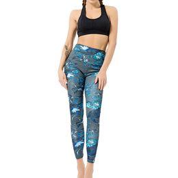 $enCountryForm.capitalKeyWord UK - High Elastic Yoga Pants Leggins Sport Women Fitness Flower Print Tummy Control Slimming Booty Legging Push Up Sports Pants