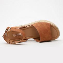 Low Wedge Heel Grey Shoes Australia - 2019 Wedges Shoes For Women High Heels Sandals Summer Shoes Femme Platform Sandals