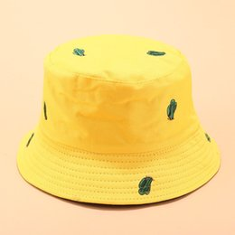 Sexy Women Hats Australia - 2019 Men and women summer sexy beach hat cactus printing double-sided wearing sunshade sport hat outdoor travel folding 40J5