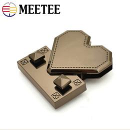 Heart Shaped Handbags Wholesale Australia - Meetee Creative Heart Shaped Metal Lock Clasp For Handbag Female Purse Decor Plug Snap Lock Buckles DIY Bag Parts Accessories BF079