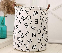 $enCountryForm.capitalKeyWord Australia - Storage Baskets Bins Kids Room Toys Storage Bags Bucket Clothing Organizer Laundry Bag Canvas Organizer Bat Polka Dot Laundry