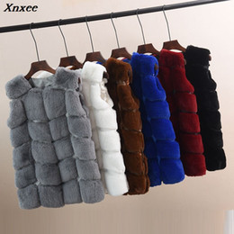Plus Size Faux Fox Vest Australia - Faux Fur Coat Winter Women 2018 Casual Plus Size Warm Sleeveless Faux Fox Fur Vest Winter Jacket Coat Women casaco feminino 5XL