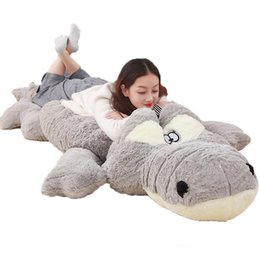 China Jumbo Cartoon Crocodile Plush Toy Large Stuffed Animals Alligator Doll Pillows for Friend Gift Deco 91inch 230cm suppliers