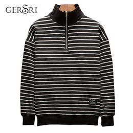 $enCountryForm.capitalKeyWord Australia - wholesale men cotton hoodies long sleeve top quality brand high necked striped baggy clothing for student hong kong loose new