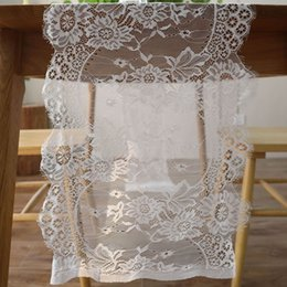 $enCountryForm.capitalKeyWord Australia - Wedding Party Chair Sash Dining Room Covers Lace Floral Decorative Restaurant Table Runner Home Modern Accessories Holiday