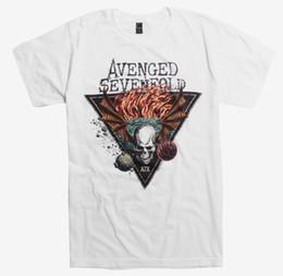 Triangle Color Cartoon UK - Avenged Sevenfold DEATHBAT TRIANGLE T-Shirt NWT Authentic & Licensed Cartoon t shirt men Unisex New Fashion