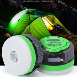 mini camping lanterns 2019 - LED Outdoor Camping Lights 10LED Mini Lantern Tents Lamp Green Shell White Night Hanging lamp USB Rechargeable Lights AB