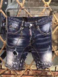 Motorcycle Shorts Australia - Summer new denim shorts men d2 019 wash high-end slim casual fashion wear-resistant motorcycle explosion models 605 A211-1
