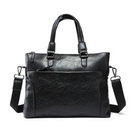 Aktentaschen Neue Einfache Design Mann Handtasche Weiche Leder Marke Männer Messenger Bags Business Laptop Tasche Männer Aktentasche P472