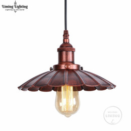 Pendant Lampshades Australia - Industrial Retro Rust Restaurant Kitchen Home Lamp Pendant Light Decorative Lamps Vintage Hanging Light Lampshade For Dining