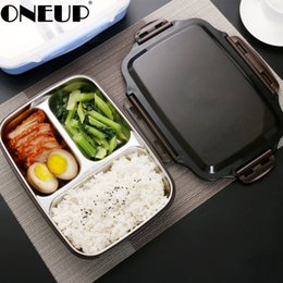 food compartment box Australia - ONEUP Lunch box Stainless Steel Portable Picnic office School Food Container With Compartments Microwavable Thermal Bento Box SH190926