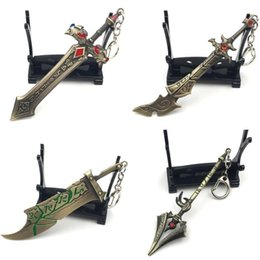 league legends games Australia - 10pcs,20 style Key buckle LOL Animation Game League of Legends Weaponry Model Key chains Blade Master Pendant alloy Galen's Sword Key Ring