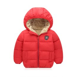 Boys Red Parka Australia - good quality winter boys coat children boys fashion hooded thicken jackets cotton plus velvet down&parkas boys casual warm outerwear