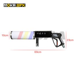 jet machine stage light UK - New portable Led CO2 Jet Machine Co2 Gun DJ Cannon RGB 3 color led smoking gun for Disco Stage Light