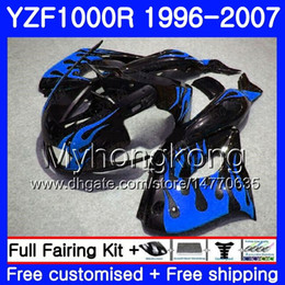 thunderace fairings UK - Body For YAMAHA Blue flames hot YZF1000R Thunderace 02 03 04 05 06 07 238HM.39 YZF 1000R YZF-1000R 2002 2003 2004 2005 2006 2007 Fairing kit