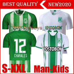 nacional jersey Australia - 19 20 Atletico Nacional Medellin H.BARCOS Soccer Jersey Colombia Club Medellin 20120 Home Football Man kids Sports Uniform Football Shirt