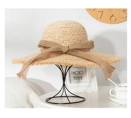 $enCountryForm.capitalKeyWord NZ - Lafite woven hat for women summer beach getaway sun hat fringed beach trip sun block hat