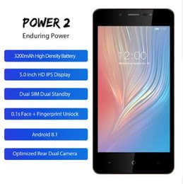 """Mobile Power Systems NZ - LEAGOO POWER 2 Mobile Phone Android 8.1 MT6580A Quad Core 5.0""""HD IPS 2GB+16GB 3200mAH Dual Cams Rear Fingerprint 3G Cellphone"""