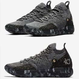 fff989c00853 Top quality KD 11 Casual Shoes Gold Splatter Kevin Durant 11s Multi-Color  Metallic Gold Men shoes size 7-12