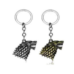 $enCountryForm.capitalKeyWord Australia - Game of Throne Keychain House Stark Wolf Head Key Chains Retro Style Keyrings Car Key Holder for Man Woman ACCESSORIES