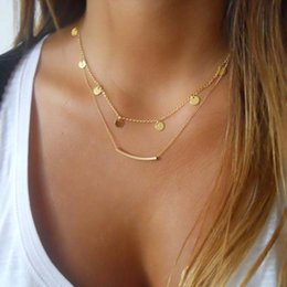 Western ornaments online shopping - Surou Western Ornaments Fashion Double Necklace Female Clavicle Chain Simplicity Street Snapshots Bijouterie