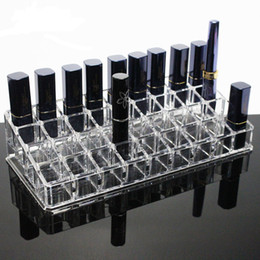 $enCountryForm.capitalKeyWord Australia - New Clear 36 Grids Acrylic Lipstick Holder Cosmetic Storage Box Makeup Organizer Sundries Display Box Cosmetic Tools