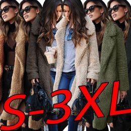 $enCountryForm.capitalKeyWord Australia - Women Long Jackets Winter Autumn Woolen Turn Down Collar Coats Long Sleeved Spring Coat