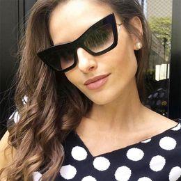 Unique Sunglasses Brands Australia - 2019 Trendy Celebrity Cat Eye Sunglasses Women Big Frame Fashion Designer Glasses Luxury Brand Sun Glasses Female Unique Shades