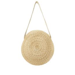 Knitted Ladies Handbags Australia - New 2019 Chic Handmade Wheatgrass Knitting Circular Shape Shoulder Bags Women Handbags Ladies Messenger Bag For Female An1009