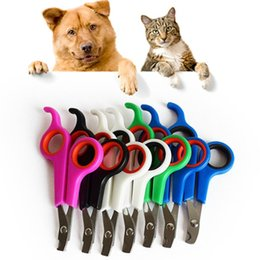 Cat Cutters Australia - Pet Dog Cat Nail Cutter pet Claw Toe Clippers Trimmers dog Grooming Scissors Toe Care Stainless Steel Nailclippers
