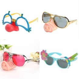$enCountryForm.capitalKeyWord Australia - Joker Pig Nose Sunglasses Hibiscus Bird Eyewear Party Decorative Eyeglass Man Women Creative Plastic Interest New 7 5lj D1
