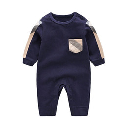 baby boy casual rompers UK - Autumn Winter Fashion Boy Clothes Long Sleeve Rompers Newborn Cotton Baby Girl Jumpsuit Infant Clothing J190521