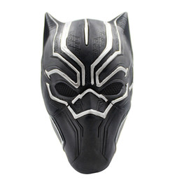 Adult Captain America Mask UK - Movie Black Panther Masks Movie Captain America Civil War Cosplay Costume Full Face Latex Helmet Mask Halloween Mask
