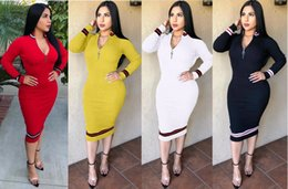 d0e813be747 women winter long sleeve dress high neck striped bodycon skirts sexy skinny  pencil dresses stretchy bodycon dresses designer clothes cheap